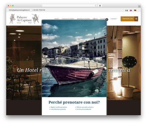 Takamado Progression best hotel WordPress theme - palazzoaicapitani.it