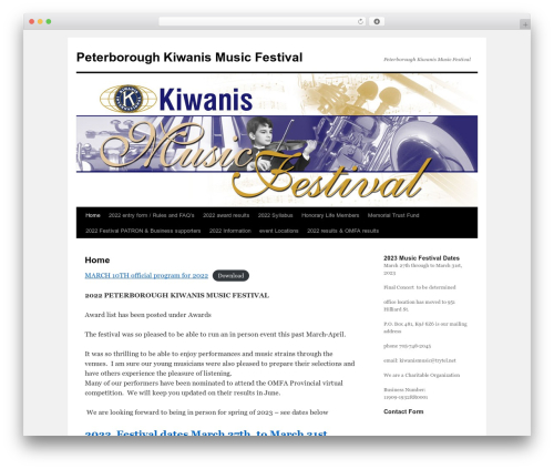 Twenty Ten WordPress free download - peterborough.kiwanismusicfestival.com