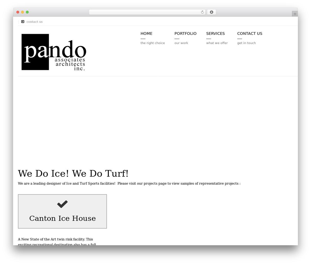Arkitekt WordPress theme design - pandoassociates.com