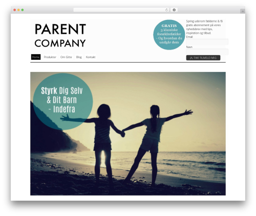 Elemin WordPress page template - parentcompany.dk