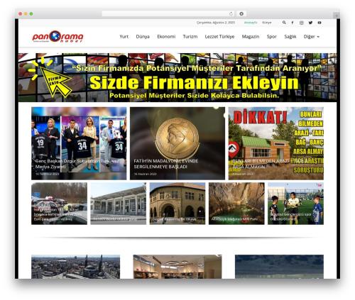 Newspaper WordPress template - panoramahaber.com