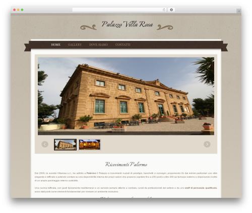 QueenHotel best hotel WordPress theme - palazzovillarosa.it