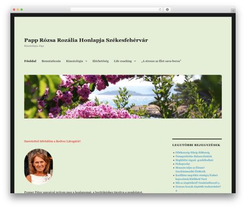 Twenty Sixteen best WordPress theme - papprozsa.hu