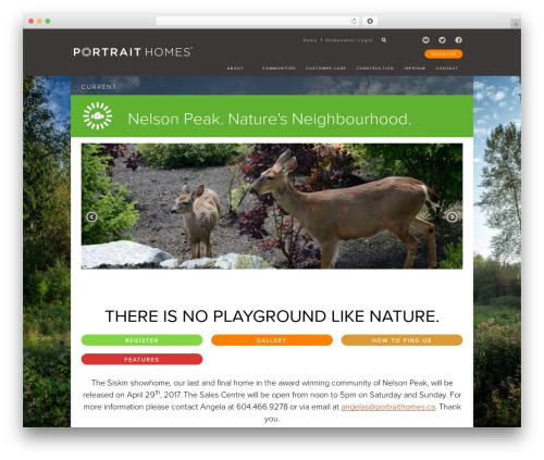 WordPress website template Anvil Framework - portraithomes.ca/our-communities/maple-ridge