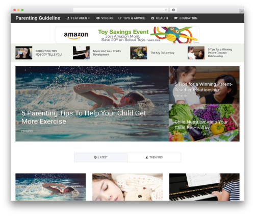WordPress website template NewsPaper by MyThemeShop - parentingguideline.com