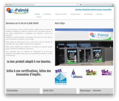 Customizr free WordPress theme - palmie-chauffage-climatisation-sanitaire.fr