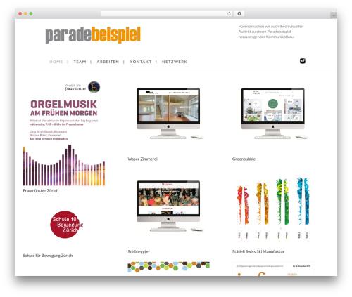 Grid Based Responsive WordPress Theme WP template - paradebeispiel.ch