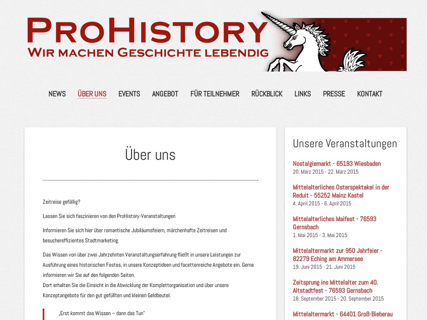 ProHistory based on SuevaFree premium WordPress theme