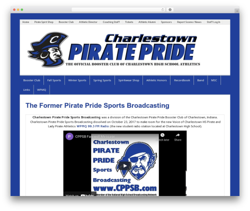 WordPress template Smartline - piratepride.blue/broadcasting