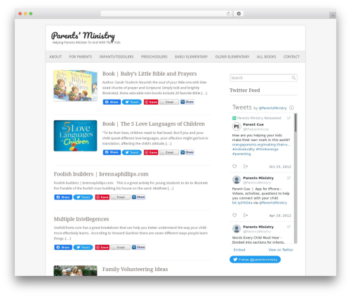Fresh And Clean WP theme - parentsministry.org