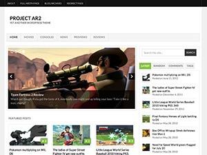 Project AR2 WordPress theme design