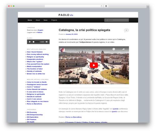 Free WordPress Twenty Eleven Theme Extensions plugin - paolods.com