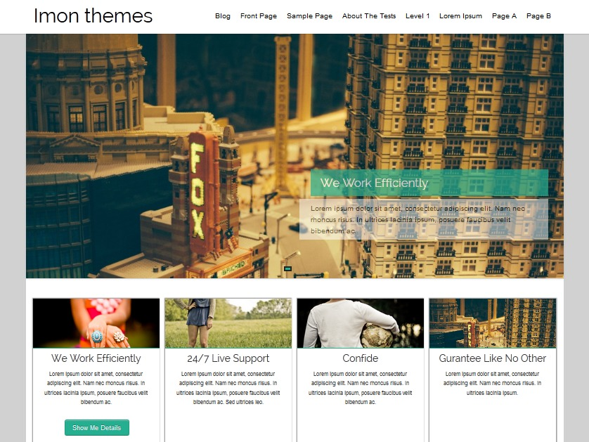 WordPress template Hathor Pro Child 01