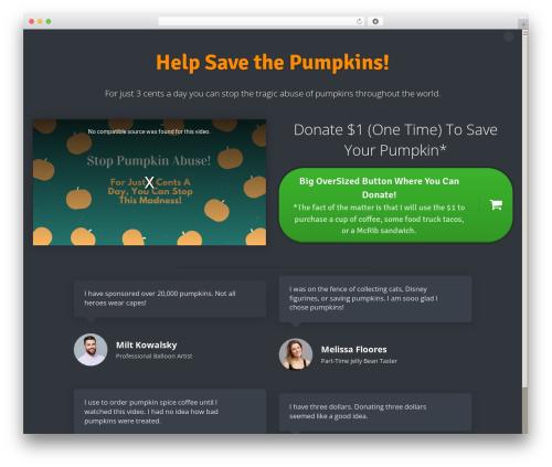 WordPress website template Author Pro Theme - peopleforpumpkinpie.com