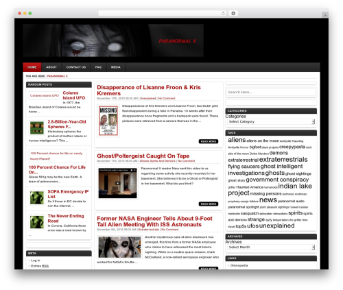 Ariel template WordPress free - paranormalx.net