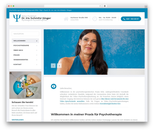 Best WordPress template MentalPress WP Theme - psychotherapie-koeln.de