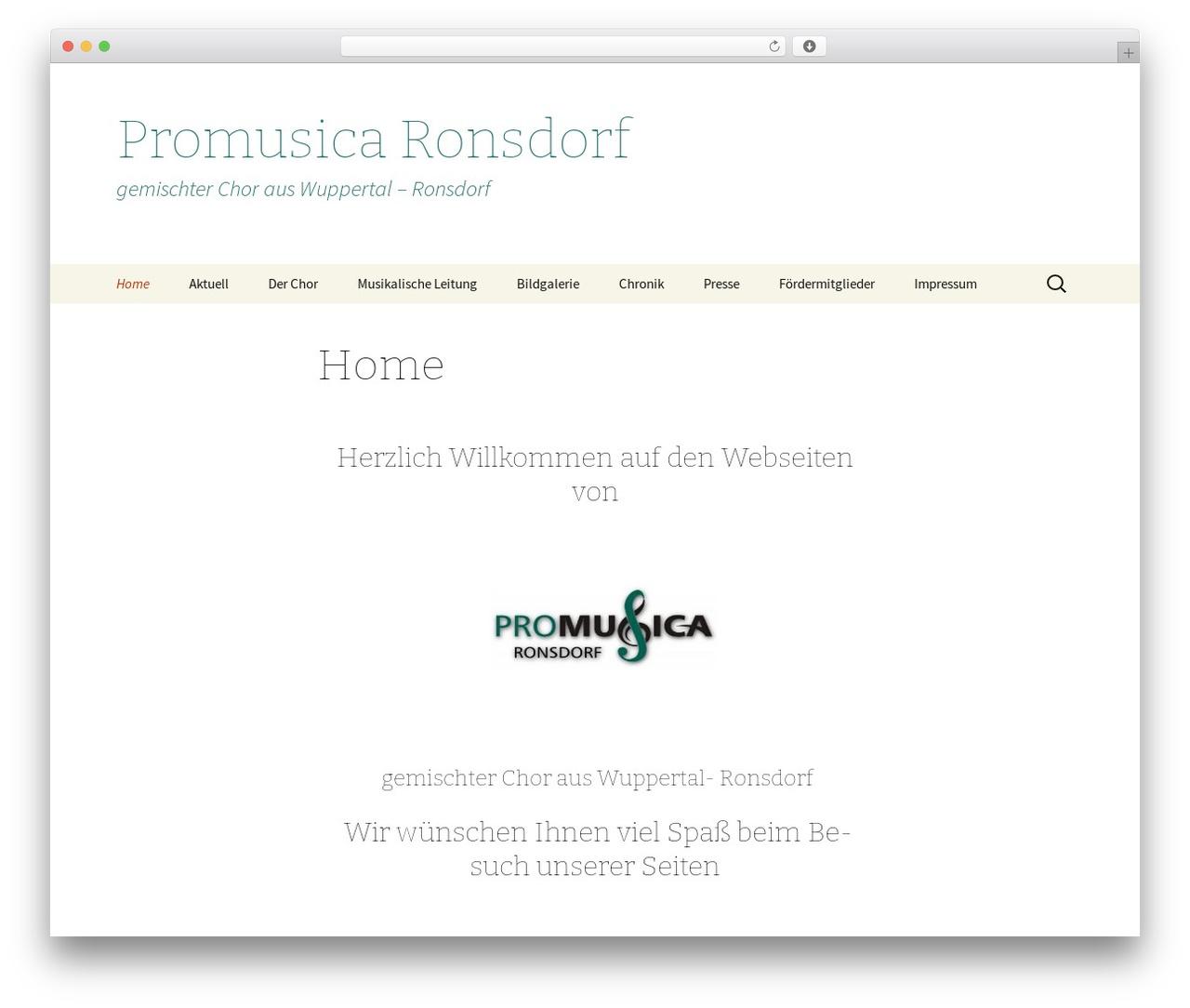 Best WordPress theme Twenty Thirteen - promusicaronsdorf.de