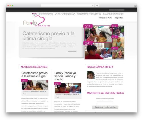Delicate News template WordPress - paoladavila.com