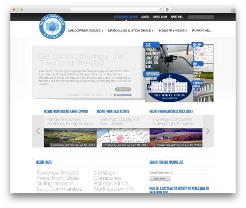 Delicate News WordPress magazine theme - paoilgasreport.com