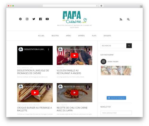Heap WordPress theme - papaencuisine.com