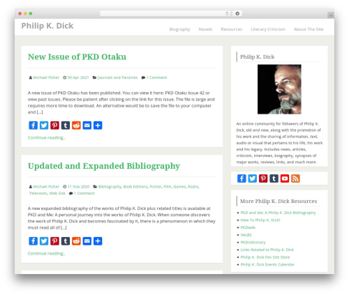 IndiBiz WordPress theme - philipkdickfans.com