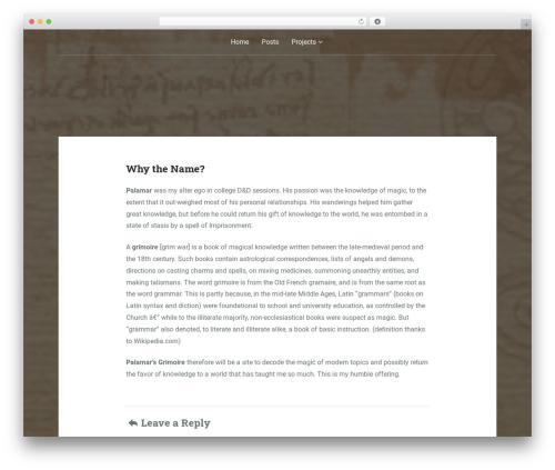 Padhang WordPress template - palamarsgrimoire.info