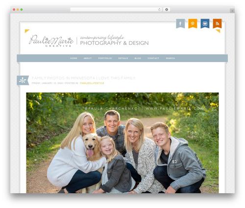 ProPhoto top WordPress theme - pauliemarie.com
