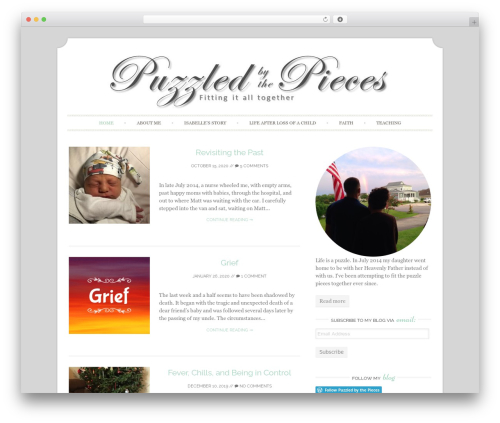 Sugar and Spice WordPress page template - puzzledbythepieces.com