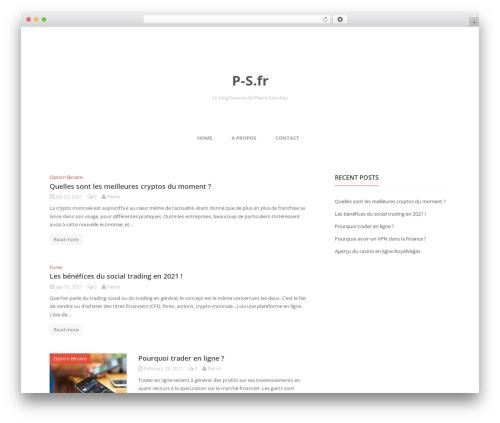 Theme WordPress Entrance - p-s.fr