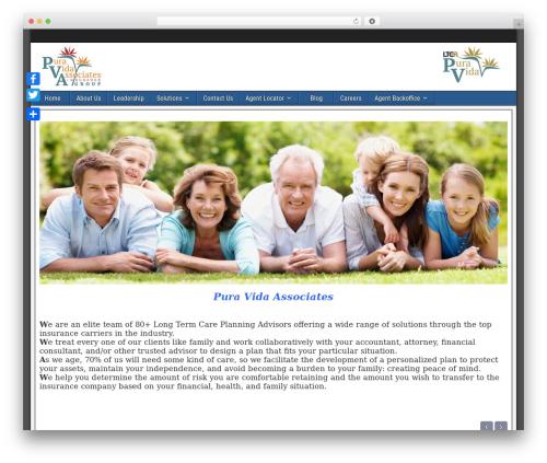 WordPress theme Frontier - pvainsurancegroup.com