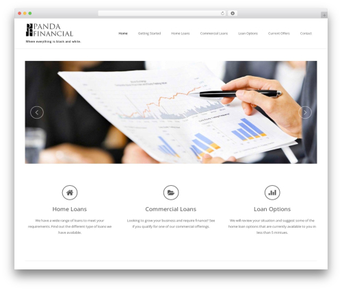 WordPress theme Impreza - pandafinancial.com