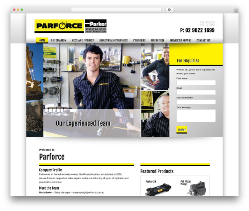 Best WordPress template avish - parforce.com.au