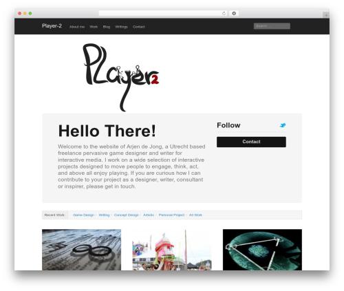 Best WordPress template Mixfolio - player-2.nl