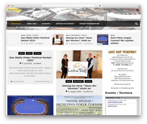 Editorialmag theme WordPress - pokerclub-winsen.de