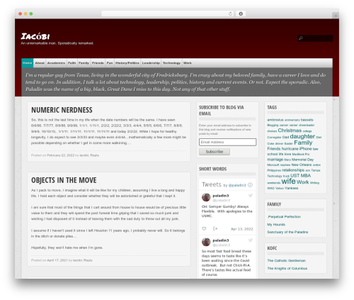 multi-color top WordPress theme - paladin.org