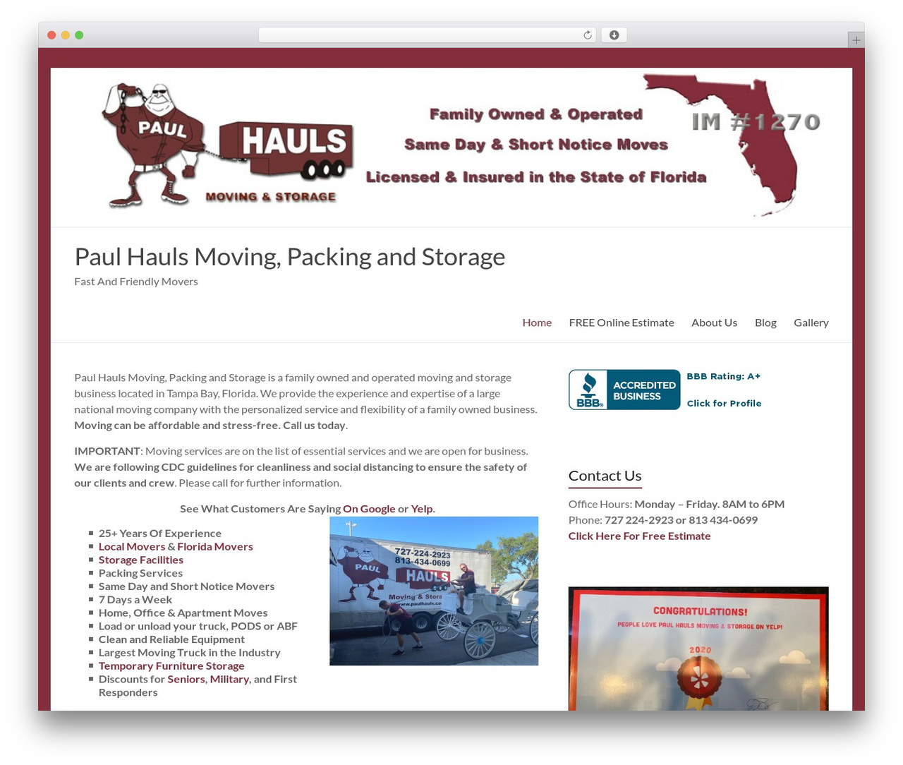Spacious WordPress template free - paulhauls.com