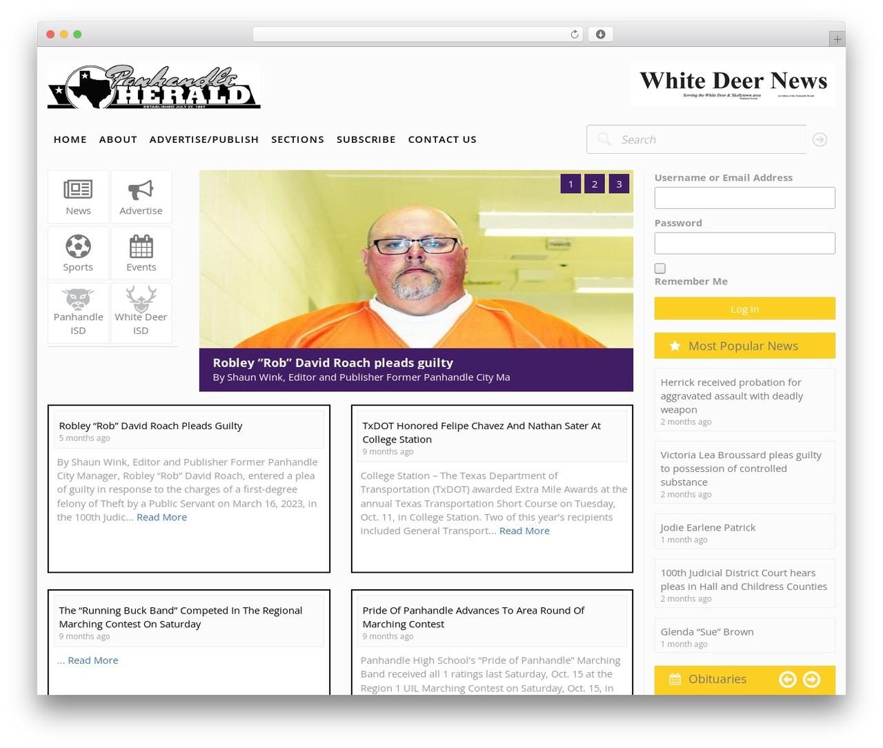 SPELLSTRAP theme WordPress - panhandleherald.com