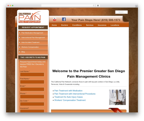 Template WordPress Pain Management Las Vegas - painmanagementsandiego.com