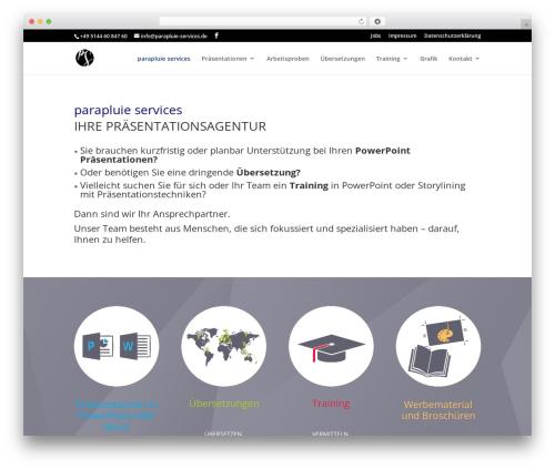 WordPress theme Divi - parapluie-services.de