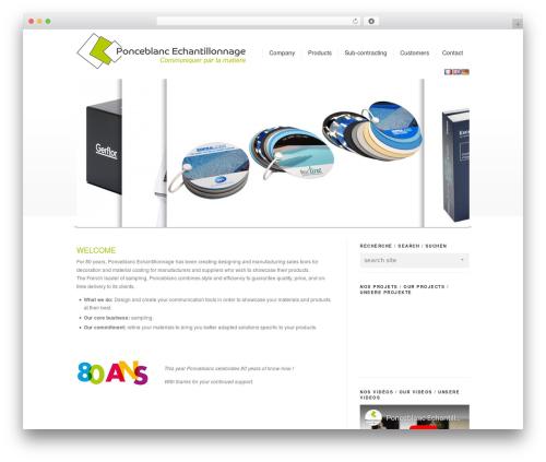 Corona WordPress theme - ponceblanc-echantillonnage.fr