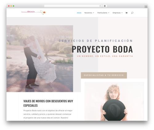 Divi WordPress blog template - proyectoboda.com