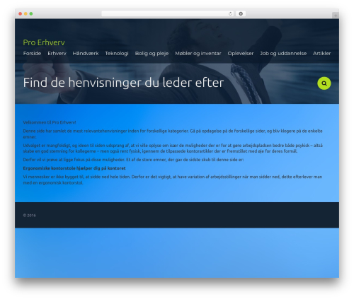 Frame Light WordPress theme - pro-erhverv.dk