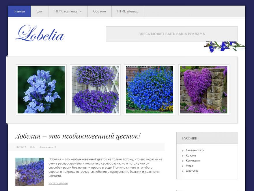 Lobelia WordPress news theme