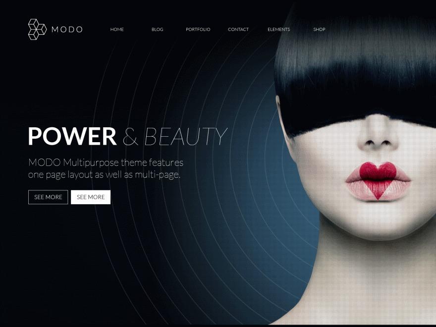 Modo WordPress portfolio theme