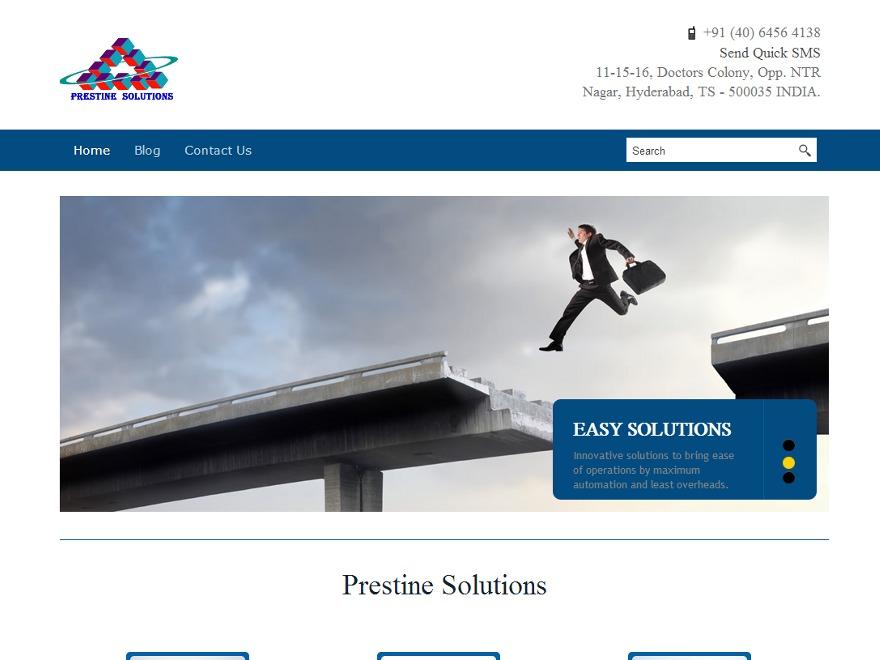 Prestine company WordPress theme