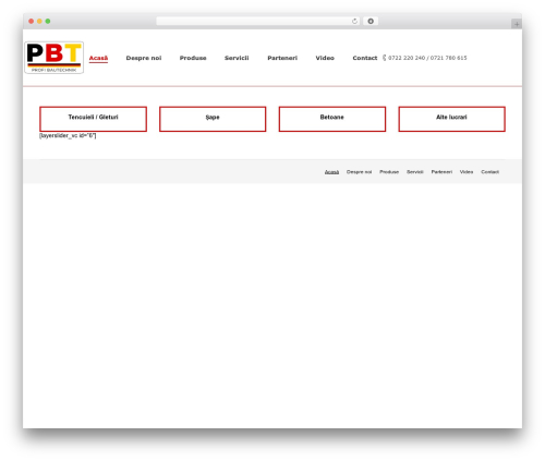 Template WordPress The7 - profibautechnik.ro