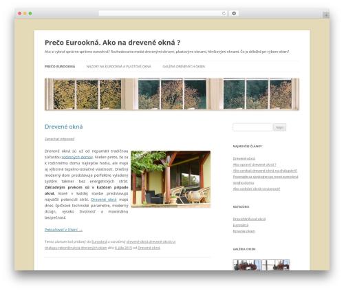 WordPress theme Twenty Twelve - preco-eurookna.sk