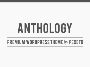Anthology WordPress theme