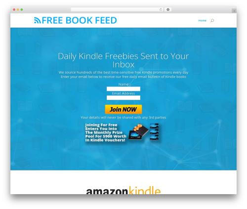 Best WordPress theme Divi - freebookfeed.com