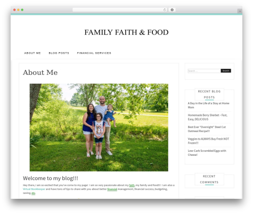 Best WordPress theme Pro Blog - familyfaithandfood.com